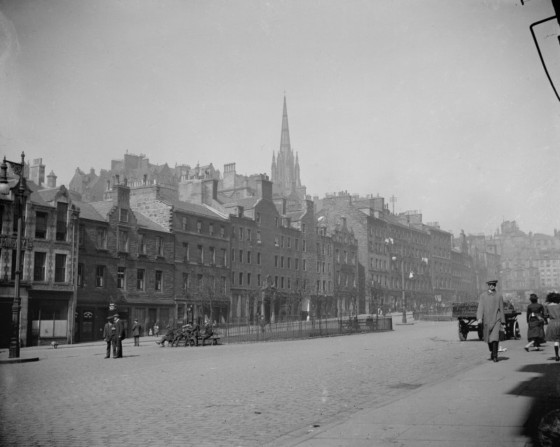 General view of part of North side of Grassmarket