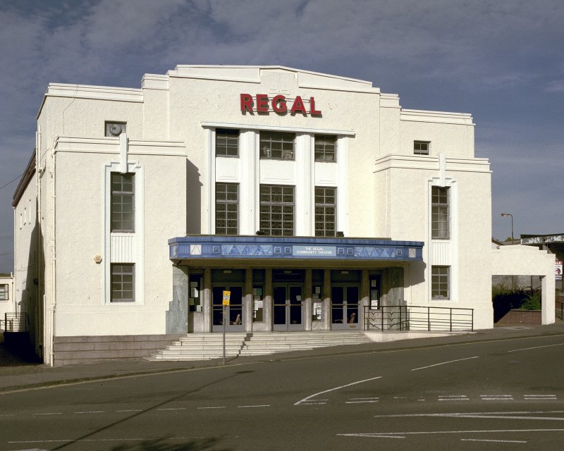 View of the Regal Cinema, Bathgate, from South.