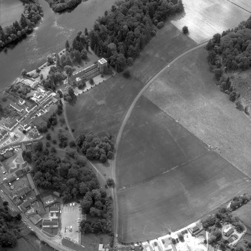Dunkeld. Oblique aerial view from North-East.