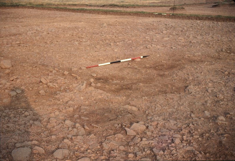 View of excavations.