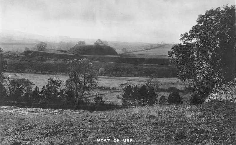 Postcard view of Mote of Urr.