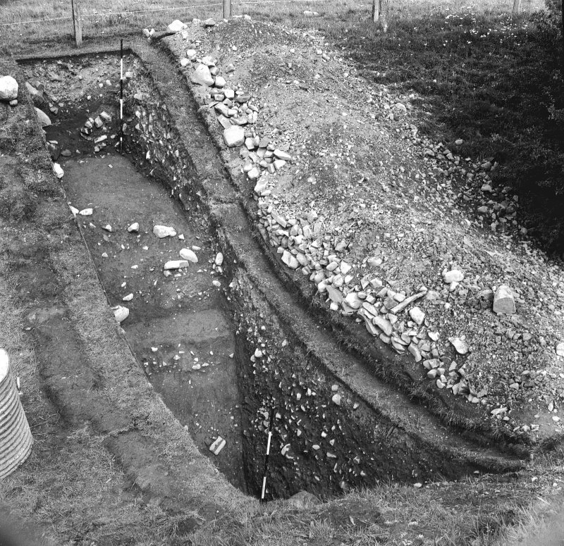 Excavation photographs: view of section through ditch.