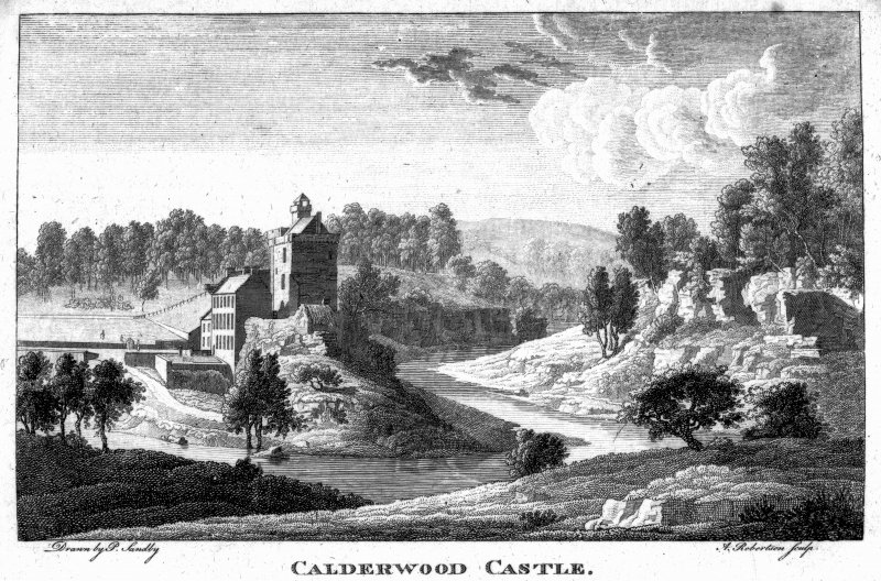 Scanned image of engraving showing view of castle.