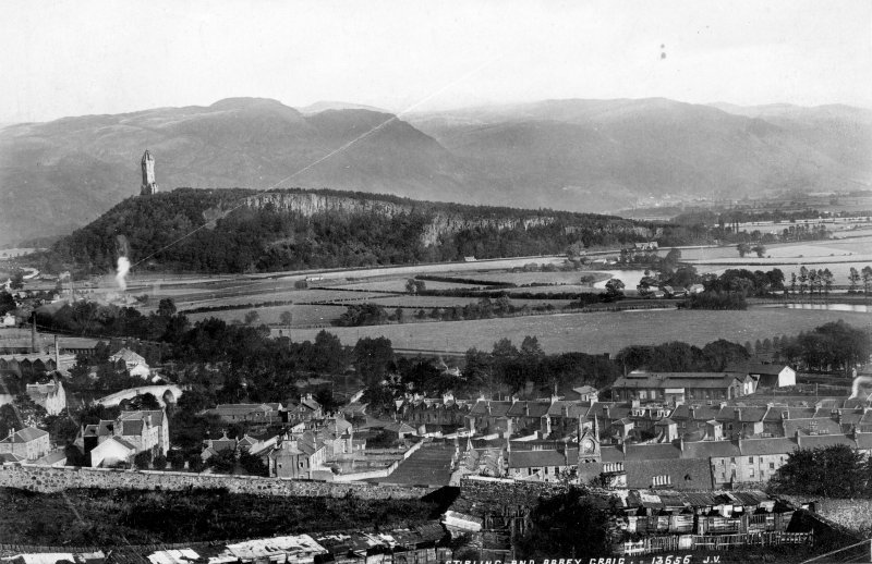 Historic photograph. View of Stirling and Abbey Craig.