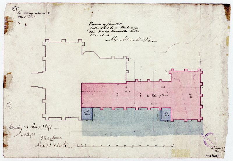 Extension. Recto: Block plan.