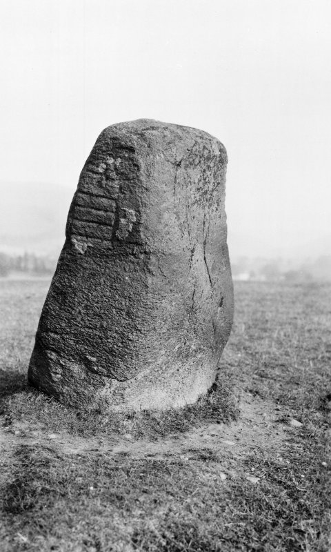 Digital copy of photograph of general view of symbol stone.