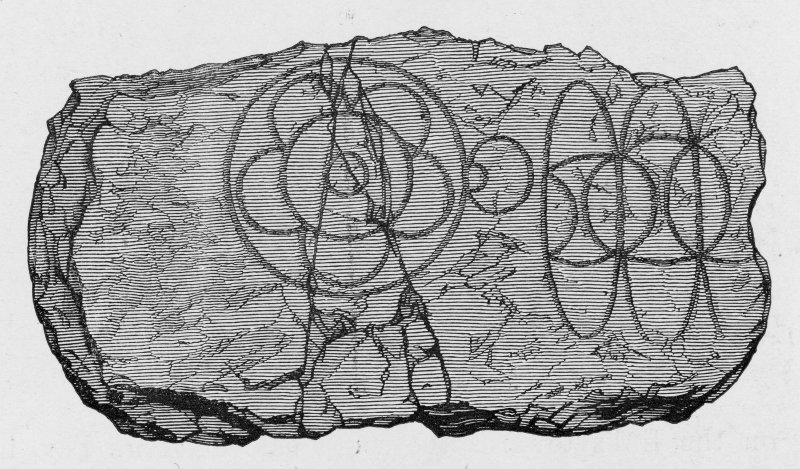 Digital image of sculptured stone from Birkle Hill, now in the National Museums of Scotland. Allen and Anderson, 1903, p.27, fig. 24. Originally published in Proc Soc Antiq Scot, 19, 1894-5, 272.