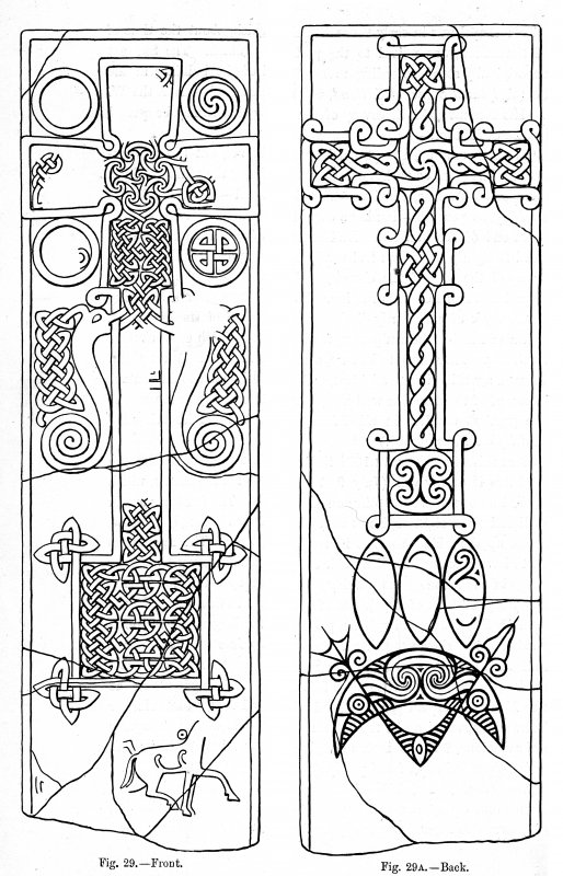 Digital image of cross-slab from Skinnet, now in Thurso Museum. Allen and Anderson, 1903, p.32, figs. 29, 29A.