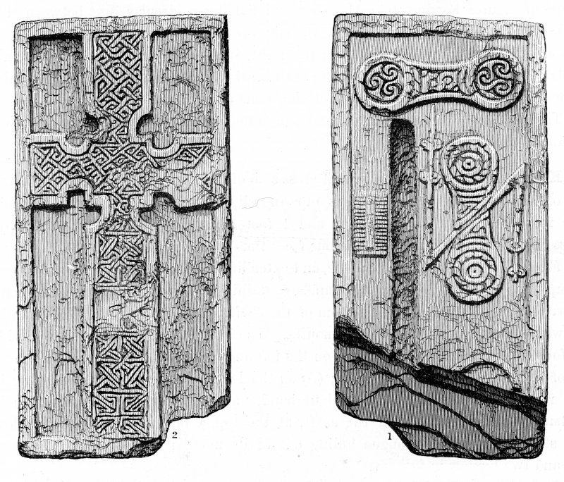 Digital image of cross-slab from Monifieth. Neish, 1873, pl.4.
