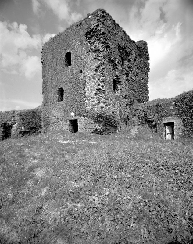 Scanned image of Dunollie Castle. View from Tower-house from South-West.