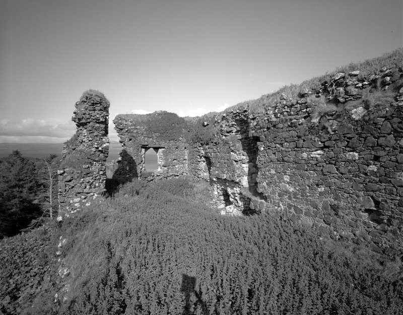 Scanned image of Mull, Aros Castle. General view of interior of ruin from South.