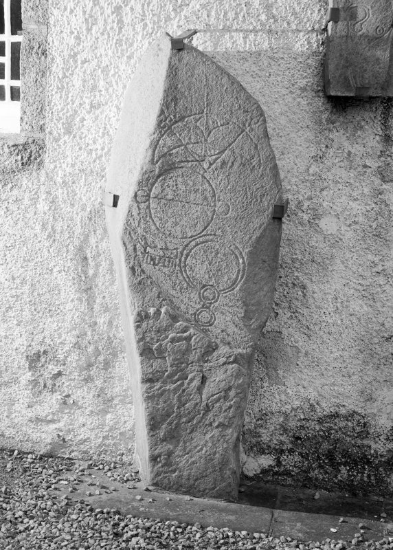 View of Inveravon no.2 Pictish symbol stone.
