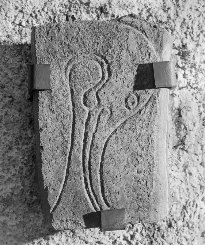 View of Inveravon no.3 Pictish symbol stone.