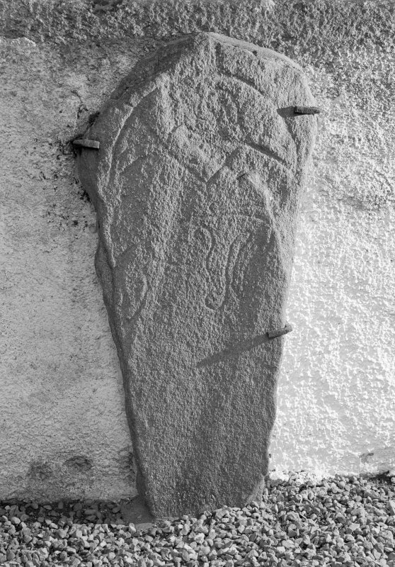 View of Inveravon no.4 Pictish symbol stone.