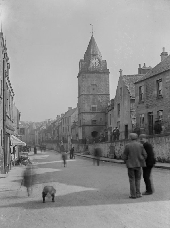 View of High Street from North-West including tolbooth.