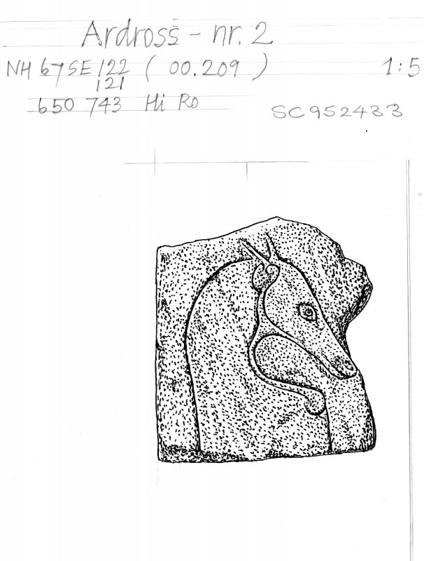 Digital copy of drawing of symbol stone (no.2).