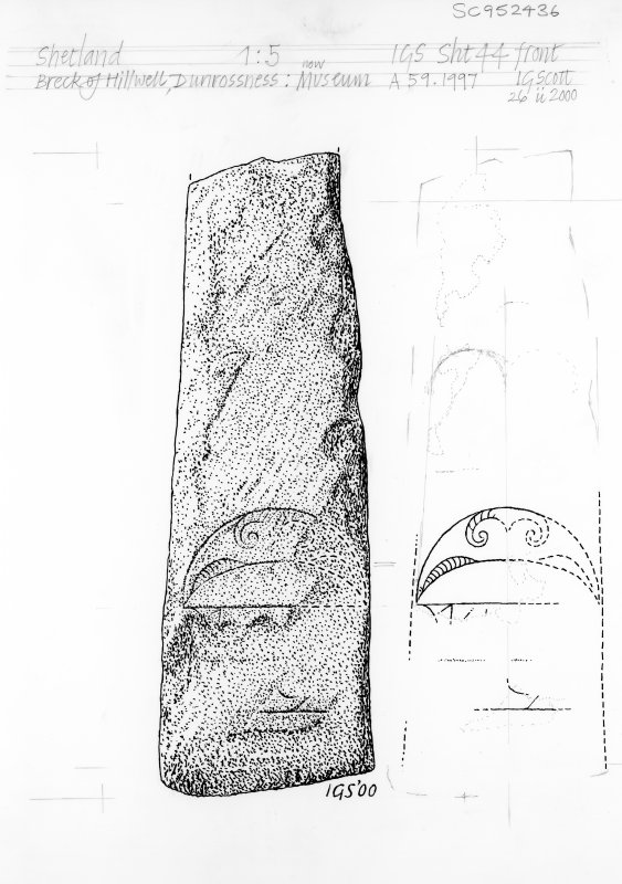 Digital copy of drawing of symbol stone.