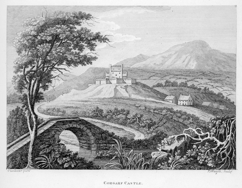 Copy of engraving showing general view.