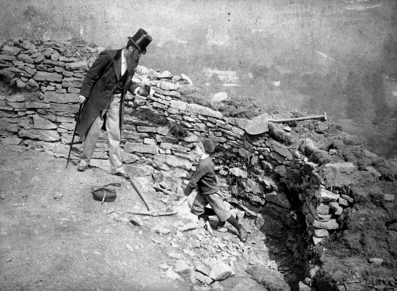 Scanned image of William Donnelly at an unknown site.