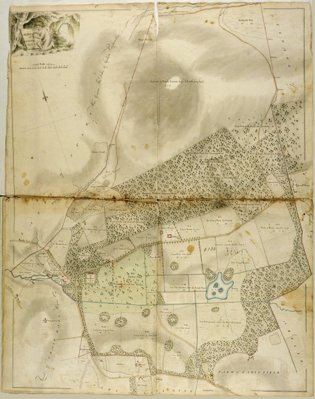 Plan of the Mains of Leith Hall, from a book of plans of the estate of Leith Hall belonging to General Alex Hay of Rannas, surveyed by George Brown, 1797'.