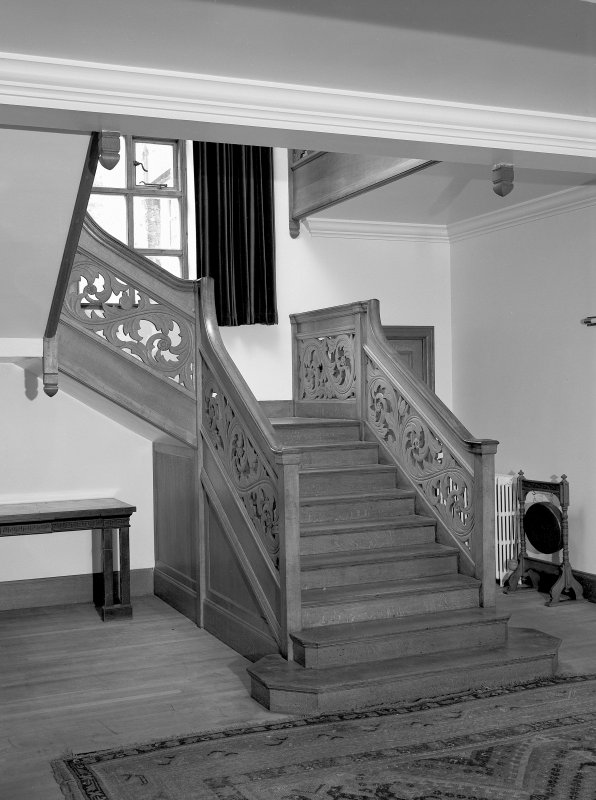 Ground floor, staircase hall, view of staircase