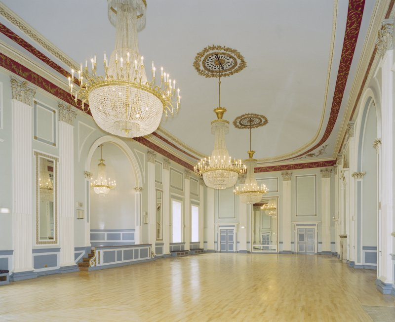 Interior, 1st floor, assembly room, view from SW