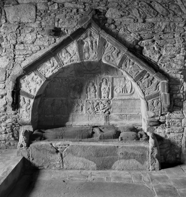 Interior. View of Macleod's tomb.
