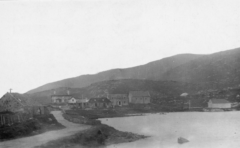 Copy of postcard showing general view of Old Mill and Pond.
