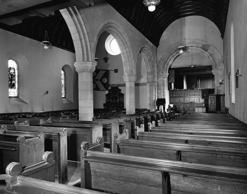 Interior. View of nave towards Hopetoun Loft.