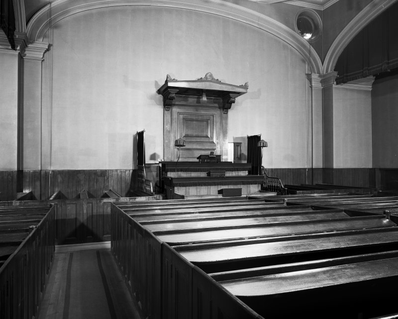 33 Barony Street, Edinburgh interior of Glasite Meeting Room, former Chapel, view of meeting room from North West showing pulpit
