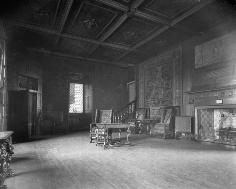 Interior-general view of Mary Queen of Scots' Audience Chamber in Holyrood Palace.