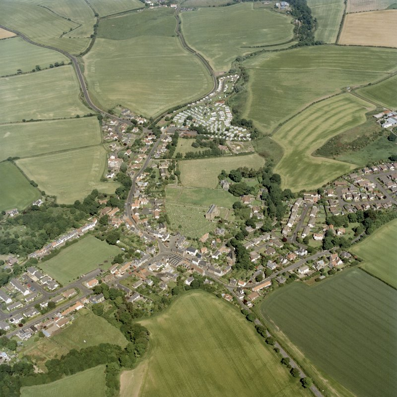 General oblique aerial view centred on the village, taken from the WSW .