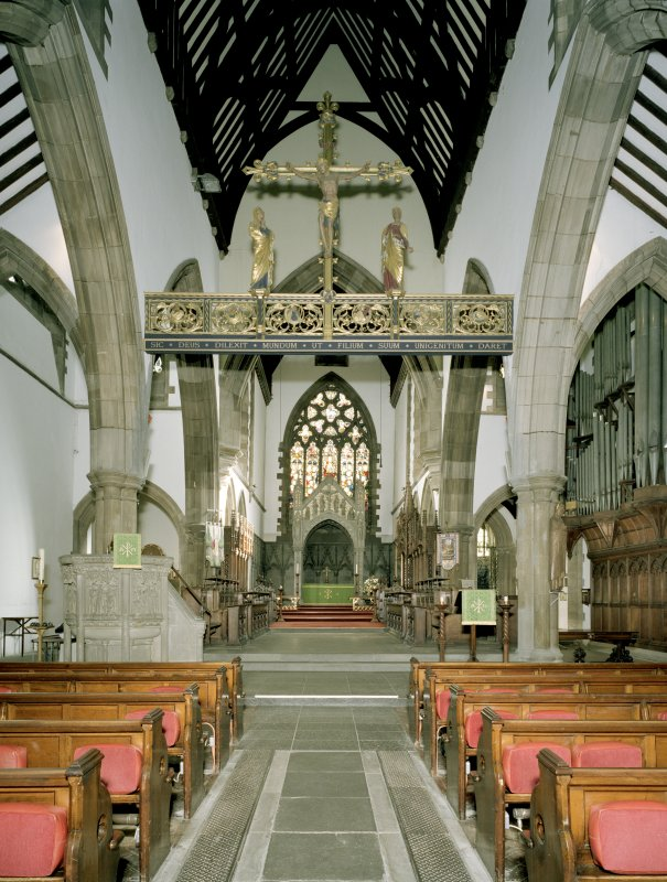 Interior of St Ninian's Episcopal Cathedral. View from W