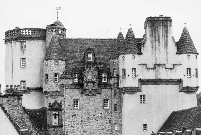Castle  Fraser, upperworks, N front.