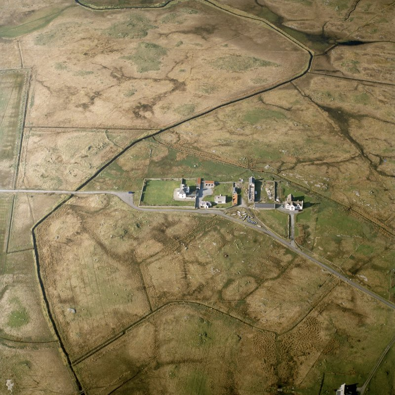 Oblique aerial view centred on Askernish house, South Uist, taken from the S.