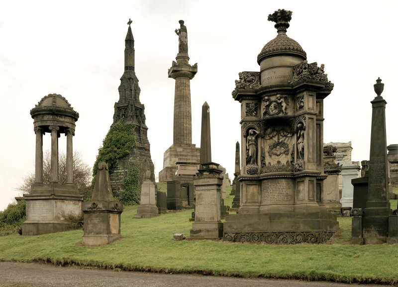 Glasgow Necropolis, Sir Henry Alexander's tomb General view