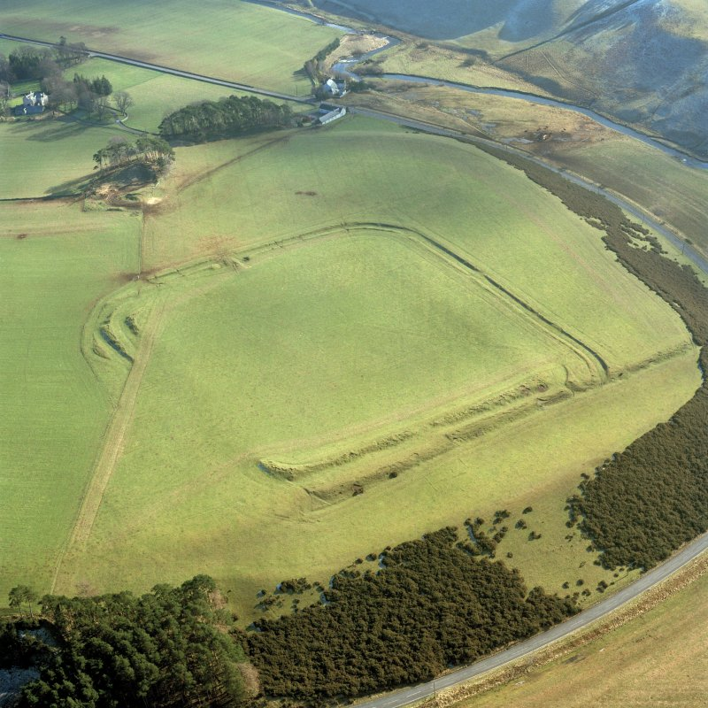Lyne Roman Fort, oblique aerial view, taken from the NW.