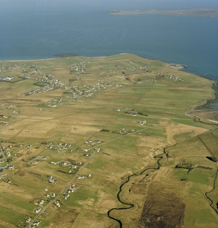 General oblique aerial view centred on the crofting township, taken from the WNW.
