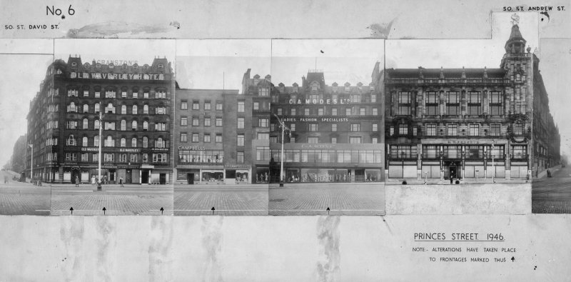General view of S elevation of Princes Street showing 30 - 46 Princes Street.