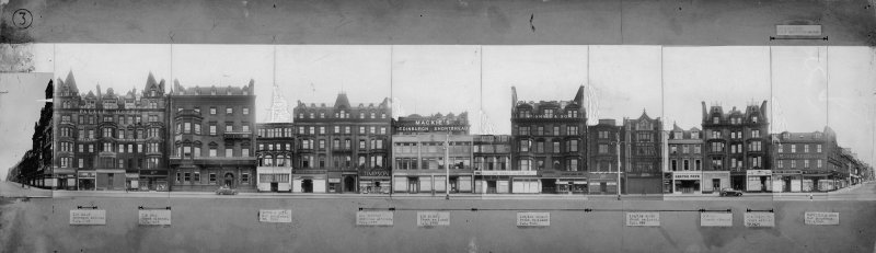 General view of S elevation of Princes Street showing 99 - 117 Princes Street.