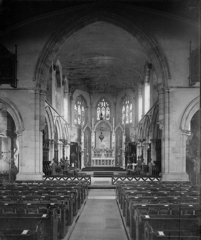 Interior view of chancel from East, St Mary's Episcopal Cathedral, Edinburgh.