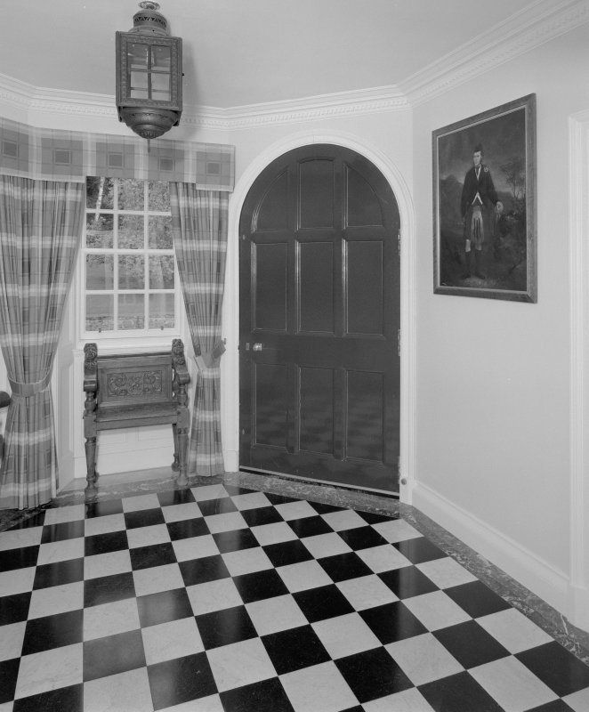 Interior. View of entrance hall from S.