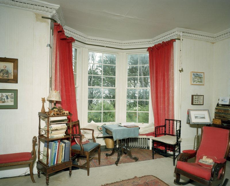 Interior. Ground Floor.Drawing Room looking towards the bay window. Scanned Image of E 64408 CN