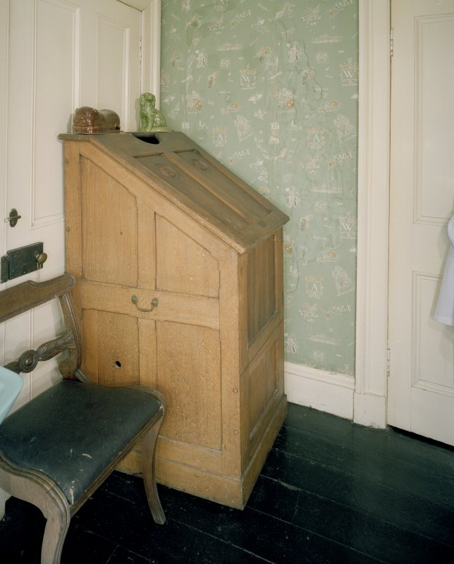 Interior. First Floor. Bathroom with American Steam Cabinet. Scanned Image of E 64448 CN