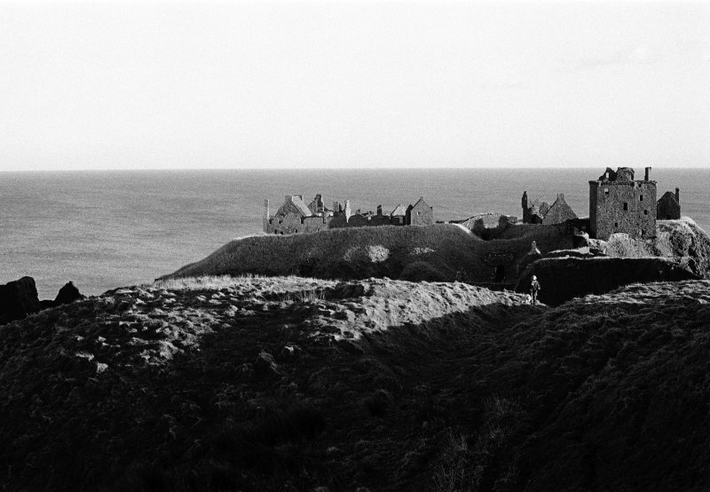 General view on the remains of Dunnottar Castle, looking to the E.