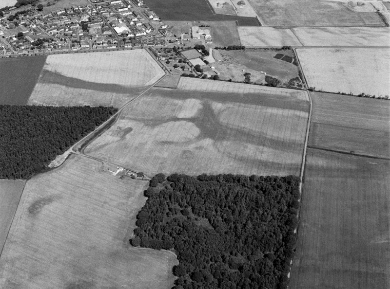 General oblique aerial view of Friockheim, looking to the NNE.