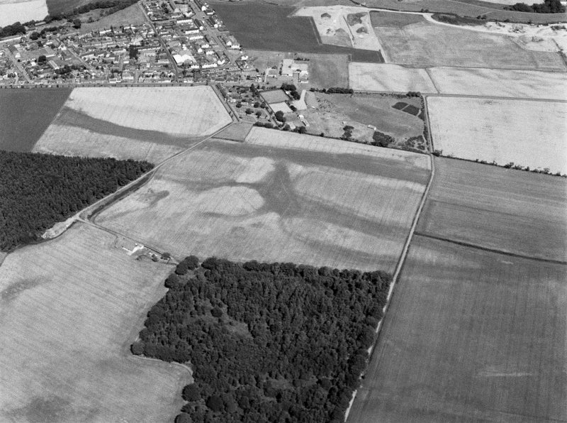 General oblique aerial view of Friockheim, looking to the N.