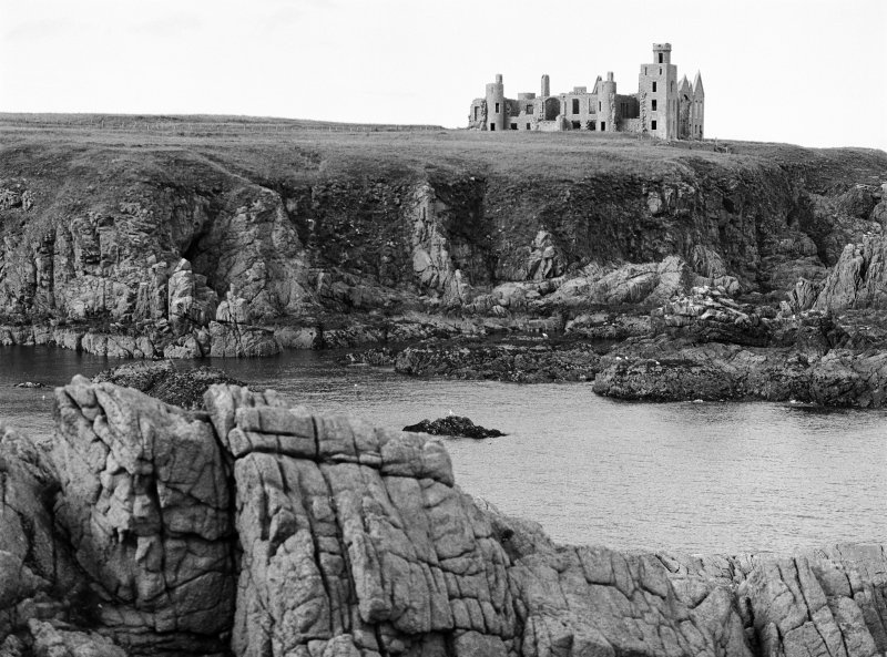 General view on the remains of Slains Castle, looking to the W.