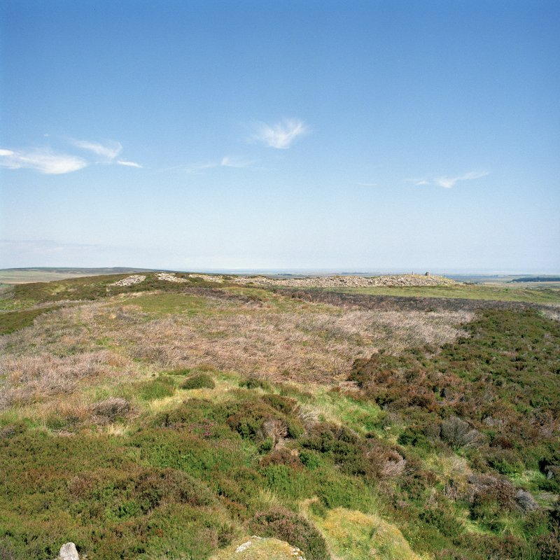 View of chambered cairn from SSW. Digital copy of photograph.