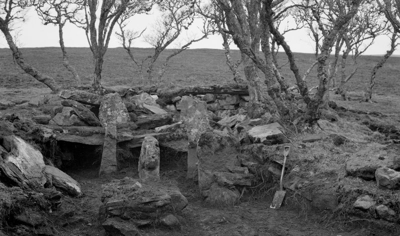 Borgue Langwell, 'galleried chamber at Langwell after excavation'.